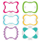 Cute frames collection Royalty Free Stock Photo