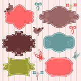 Cute frames decorative elements Stock Image
