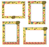 Cute frames with flowers Stock Image