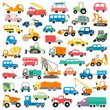 Cute cartoon cars vector illustration