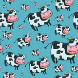 Cute friendly cow pattern. Cute friendly cow. Beautiful pattern.Vector royalty free illustration