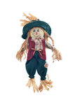 Cute and friendly scarecrow gn white. Royalty Free Stock Photo