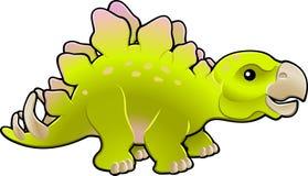 Cute friendly stegosaurus vector stock illustration