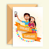 Cute Friends celebrating Friendship Day. Stock Photography