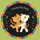 Cute Friendship Day card Stock Image