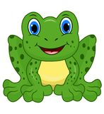 Cute frog cartoon vector illustration