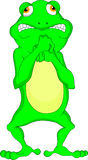 Cute frog cartoon Royalty Free Stock Image