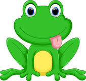 Cute frog cartoon Royalty Free Stock Photography