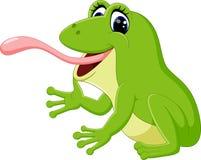 Cute frog cartoon. Illustration of Cute frog cartoon stock illustration