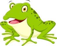 Cute frog cartoon Stock Photography