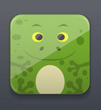 Cute frog icon Royalty Free Stock Image