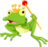 Cute frog Prince cartoon Stock Photos
