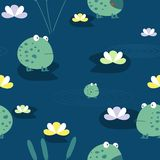 Cute frog, seamless pattern Royalty Free Stock Photography