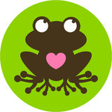 Cute Frog Silhouette Royalty Free Stock Images