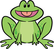 Cute frog vector illustration. Adorable amphibian frog vector illustration Royalty Free Stock Photos