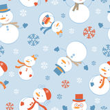 Cute frosty seamless pattern Royalty Free Stock Images