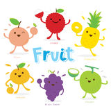 Cute Fruit Cartoon Vector Stock Image
