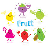 Cute Fruit Cartoon Vector Stock Image