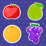 Cute fruit collection01 Royalty Free Stock Image
