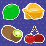 Cute fruit collection04 Royalty Free Stock Photography