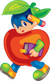 Cute Fruit Kid Stock Image