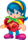 Cute Fruit Kid Royalty Free Stock Image