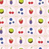 Cute fruit polka dot vector illustration. Seamless repeating pattern. vector illustration