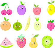Cute fruit set  raspberry Stock Photography