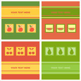 Cute fruits cards Royalty Free Stock Photo