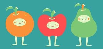 Cute Fruits Standing Stock Photos