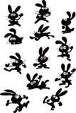 Cute fun rabbits. Collection of cute fun rabbits Royalty Free Stock Image