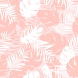 Cute and fun summer seamless pattern. Tropical leaves. Stylish background, textile or wrapping paper design. Vector illustration. eps10 Royalty Free Stock Photos