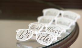 Cute and fun wedding sun Glasses. Cute and fun bride wedding sun Glasses Royalty Free Stock Photo