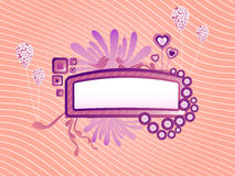 Cute funky frame vector image. Illustration of a cute detailed frame for text Royalty Free Stock Image