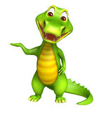 Cute funny Aligator cartoon character Royalty Free Stock Images