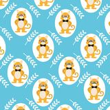 Cute and funny animals background pattern. Vector illustration graphic design stock illustration
