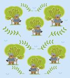 Cute and funny animals background pattern. Vector illustration graphic design Royalty Free Stock Image