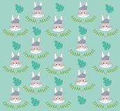 Cute and funny animals background pattern. Vector illustration graphic design royalty free illustration