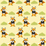 Cute and funny animals background pattern. Vector illustration graphic design Royalty Free Stock Photography