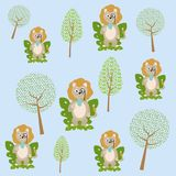 Cute and funny animals cartoons. Vector illustration graphic design Royalty Free Stock Photography