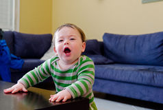 Funny Baby giving a speech. Cute Funny Baby giving a speech royalty free stock photography