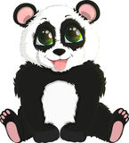 Cute funny baby panda Royalty Free Stock Photos