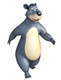 Cute funny Bear cartoon character Stock Images