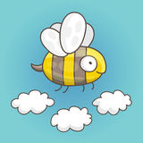 Cute and funny bee Stock Photo