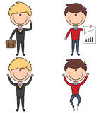 Cute and funny cartoon businessmen Royalty Free Stock Photos