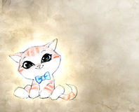 Cute funny cartoon cat Royalty Free Stock Photos