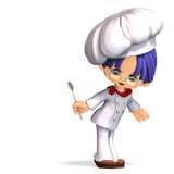 Cute and funny cartoon cook Royalty Free Stock Photos