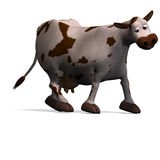 Cute and funny cartoon cow Royalty Free Stock Image