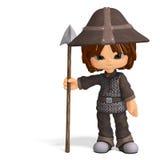 Cute and funny cartoon guard Stock Image