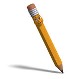 Cute and funny cartoon pen with a lovely face Royalty Free Stock Photos
